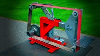 Belt Grinder Build From Scrap Workout Bench And Treadmill Motor
