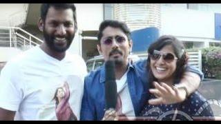 Siddharth and Vishal praise Varalakshmi Sarathkumar acting in Thaarai Thappattai | Funny Speech