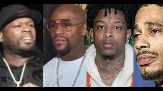 50 Cent TROLLS Mayweather and Wendy Williams LAYZIE BONE Demands Apology from 21 Savage Diss Wife