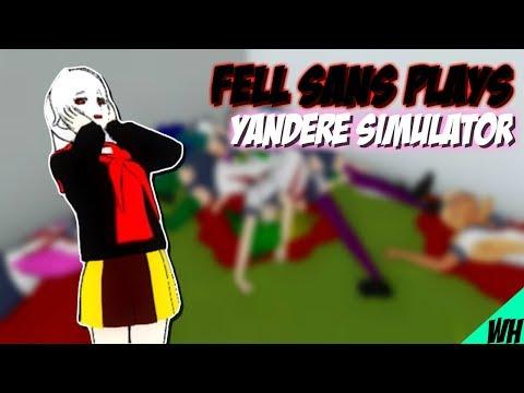 Yandere Simulator | Underfell Sans Plays Yandere Simulator - w/ Swap Sans!