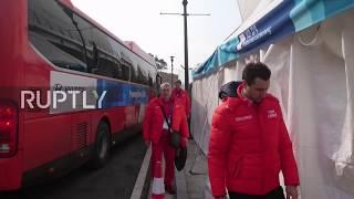South Korea: OAR ice hockey team arrive in Gangneung for Germany final