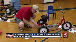 Music City Trykes Builds Bikes For Disabled Children