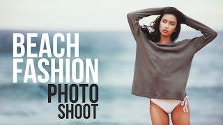 Beach Fashion Photo Shoot - BTS Sony A7R Contax 645