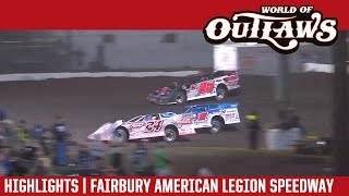 World of Outlaws Craftsman Late Models Fairbury American Legion Speedway July 29, 2017 | HIGHLIGHTS