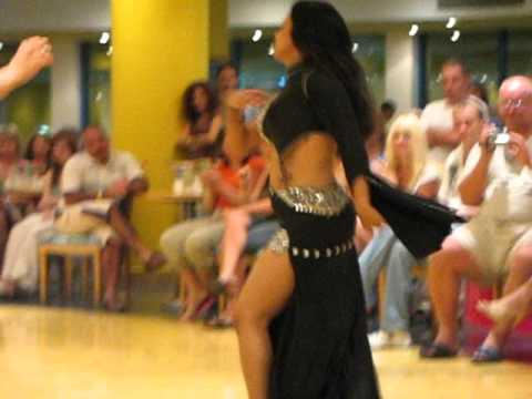 Sexy girl dancing belly dance in Egypt