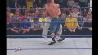 WWE John Cena and Brock Lesnar - FIRST TIME FACE TO FACE - SmackDown 3 27 2003