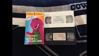 Opening & Closing To Barney: Bonus 2 Videos 1995 VHS