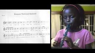 Caleo Plays Kenyan National Anthem on Recorder