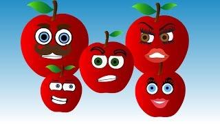 Apple Finger Family Song Nursery Rhymes for Kids | Learning Fruits