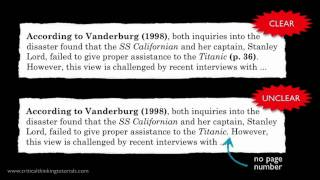 How to Cite Sources: Citing Without Quoting
