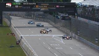 IndyCar 2018. Race 1 Detroit Grand Prix. Last Laps