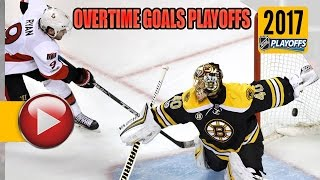 NHL Stanley Cup Playoffs 2017 - First Round OT Goals. (HD)