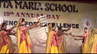 Dandiya dance performed by students of SANTA MARIA Trichy, India