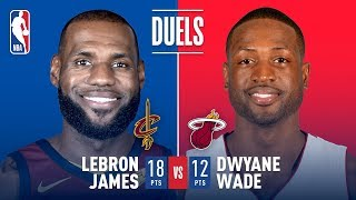 Dwyane Wade vs LeBron James: 3 vs 23