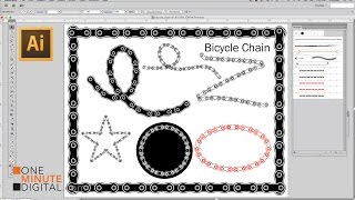 Make a Bicycle Chain Brush in Illustrator