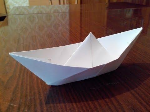 як зробить из бумаги лодку