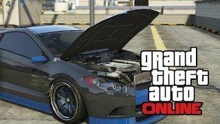 GTA 5 ONLINE: How To (Pop The Hood/Bonnet) Open The Bonet on GTA V (Car Tricks)