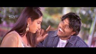 Chiranjeevi Sarja hit Uday for Misbehaving with Ragini Dwivedi | Gandede Kannada Movie Best Scene