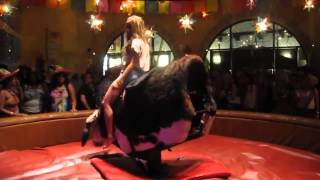 Hot Girl dancing on a mechanical bull HD FULL