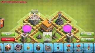 Clash of clans 5. Seviye köy binası (savunma) düzeni