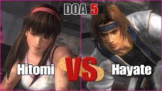 DEAD OR ALIVE 5 Last Round - Hitomi VS Hayate