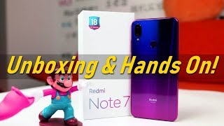 Redmi Note 7 Unboxing & Hands On Review Hindi !