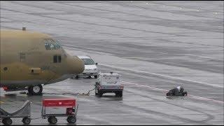 """(Time for praying) Royal Saudi Air Force C-130 """"Hercules"""" at ZRH"""
