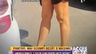 Andreea Bănică a dat 3.500 de euro pentru o pereche de pantofi!
