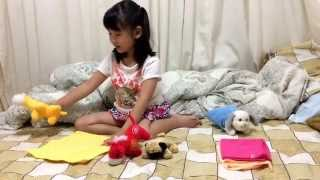 Naomi's channel 1st episode: sleeping bag animals