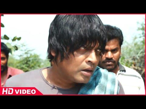 Thirudan Police Tamil Movie - Attakathi Dinesh saves Uma Padmanabhan from Rajendran