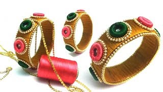 Making silk thread bangles | Latest silk thread bangle making at home | Easy and Simple bangles