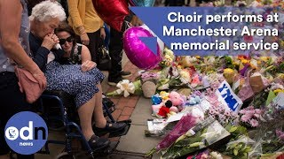 Emotional choir performance at Manchester Arena memorial service