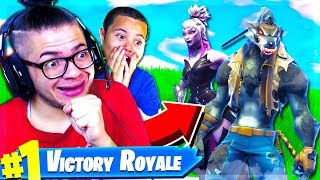 OMG *NEW* TIER 100 DIRE SKIN IS UNSTOPPABLE IN FORTNITE BATTLE ROYALE! 10 YEAR OLD BROTHER! SEASON 6
