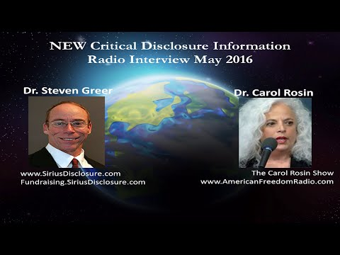 Dr. Steven Greer on Carol Rosin