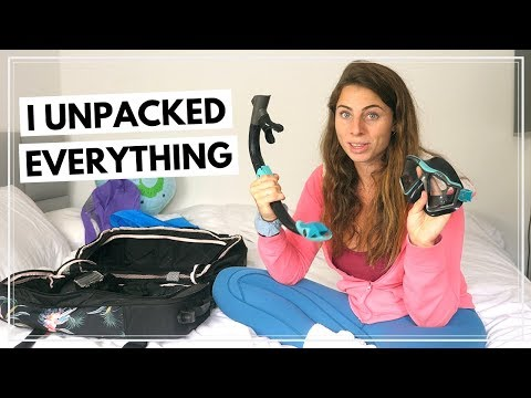 UNPACKING MY BACKPACK AFTER 6 MONTHS What was great what I regretted