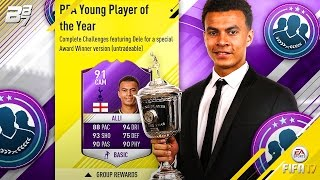 YOUNG PLAYER OF THE YEAR ALLI! 91 RATED BEAST SBC!   FIFA 17