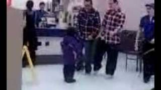 2 guys dancing with little girl