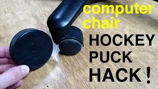 Gamer / Computer Chair ● HOCKEY PUCK HACK !