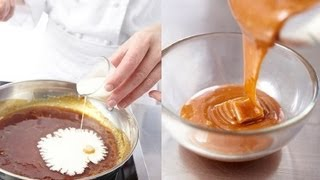 Technique de cuisine : Réaliser une sauce caramel et une garniture de caramel mou