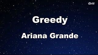 Greedy - Ariana Grande Karaoke 【With Guide Melody】 Instrumental