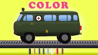 Kids TV Channel | colorful ambulance song | learn colors with ambulances | color book videos