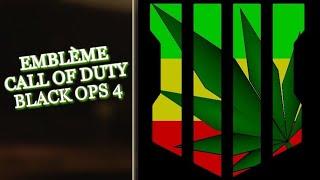 EMBLÈME CALL OF DUTY BLACK OPS 4 FEUILLE DE CANNABIS