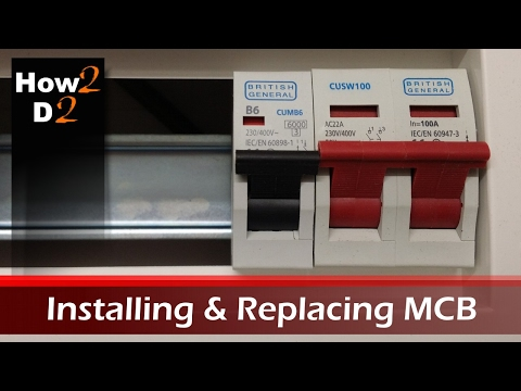 Installing MCB in consumer unit. Replacing fuse in fuse box wiring uk
