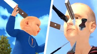 I Threw Multiple Knives into My Granny's Face and I Regret Everything - Granny Simulator