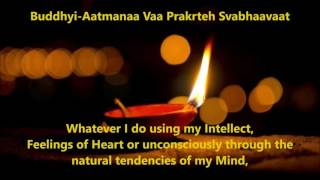 Closing Prayer Mantras With Lyrics and Meaning ~ Pt  Abhedanand Persad Sharma