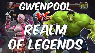 Gwenpool VS Realm of Legends - Gwenpool Gameplay Compilation - Marvel Contest Of Champions