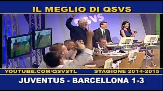 QSVS - I GOL DI JUVENTUS - BARCELLONA 1- 3  - FINALE CHAMPIONS LEAGUE  TELELOMBARDIA / TOP CALCIO 24