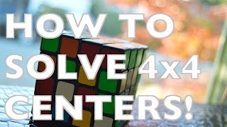 How to Solve the 4x4 Rubik's Cube: Centers!