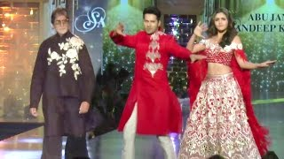 Amitabh Bachchan,Alia Bhatt & Varun Dhawan Walk The Ramp For Raising Money For Cancer Patients