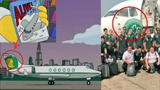 Se Colapsa Avión del Equipo de Futbol Chapecoense y Los SIMPSON lo Predijeron